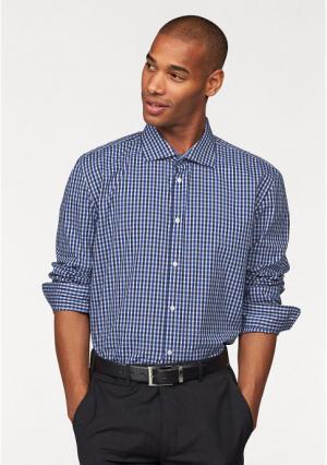 Рубашка Class International. Цвет: белый/темно-синий/королевский синий в клетку