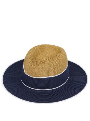 Шляпа Fabretti. Цвет: синий,бежевый