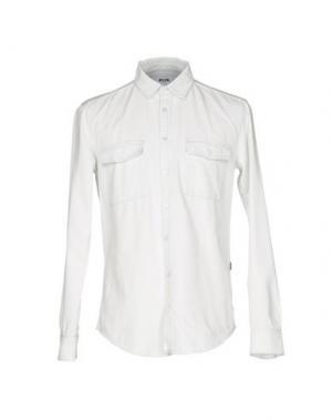 Джинсовая рубашка MSGM. Цвет: белый