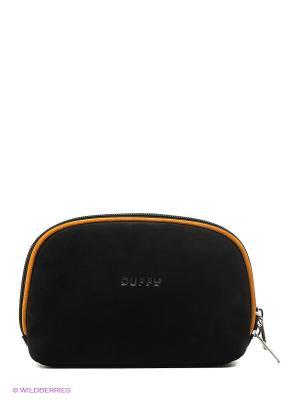 Косметичка Duffy. Цвет: черный, оранжевый