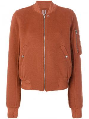 Куртка-бомбер Flight Rick Owens. Цвет: жёлтый и оранжевый