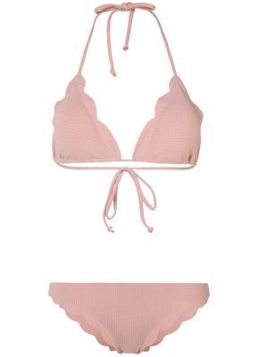 Ruffled bikini set Marysia. Цвет: розовый и фиолетовый
