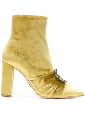 Ботинки с ремешками Oscar Tiye. Цвет: металлический