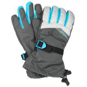 Перчатки сноубордические женские  Capri Glove Silver Houndstooth Dakine. Цвет: серый,голубой