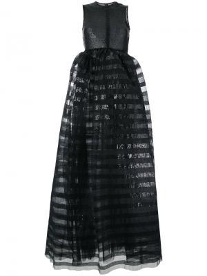 Вечернее платье с пайетками Huishan Zhang. Цвет: чёрный