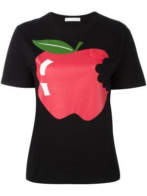 Футболка Apple Peter Jensen. Цвет: чёрный