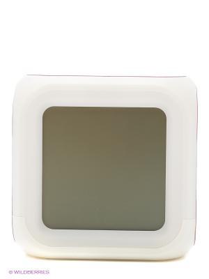 Часы настольные пиксельные с подсветкой Блок ТНТ Toypost. Цвет: красный, белый