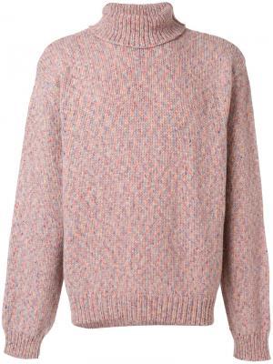 Джемпер с отворотной горловиной YMC. Цвет: розовый и фиолетовый