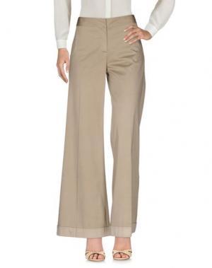 Повседневные брюки SIYU. Цвет: песочный