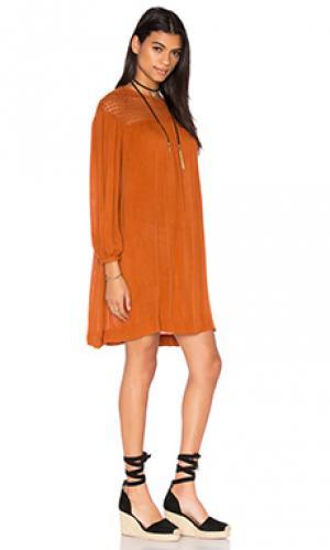 Мини платье chene Deby Debo. Цвет: коричневый