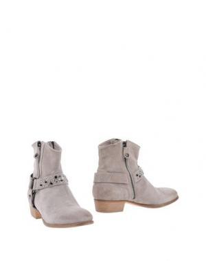 Полусапоги и высокие ботинки TWIN-SET Simona Barbieri. Цвет: серый