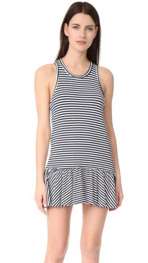 Платье Le Club McGuire Denim. Цвет: темно-синий