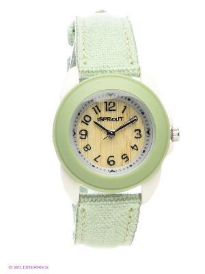 Часы Sprout. Цвет: зеленый