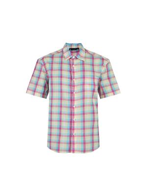 Рубашка Finn Flare. Цвет: бледно-розовый, кремовый, голубой