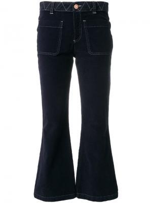 Укороченные брюки клеш See By Chloé. Цвет: синий