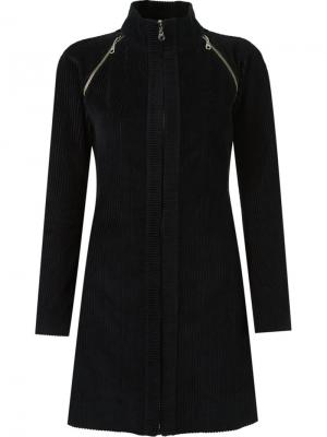 Panel ribbed coat Gloria Coelho. Цвет: чёрный