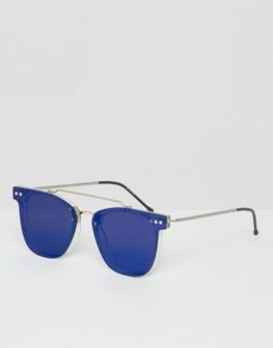 Spitfire Круглые солнцезащитные очки. Цвет: синий