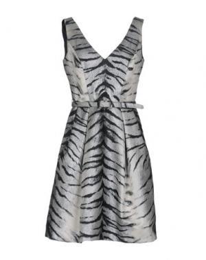 Короткое платье THEIA. Цвет: серебристый