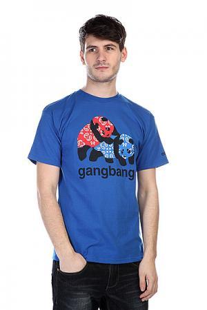 Футболка  Gangbang Royal Enjoi. Цвет: голубой