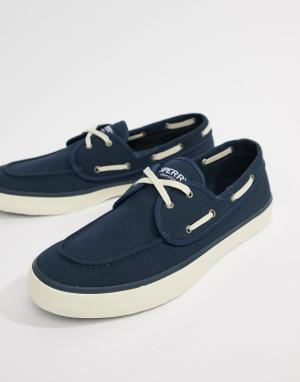 Sperry Темно-синие мокасины-кроссовки Topsider. Цвет: темно-синий