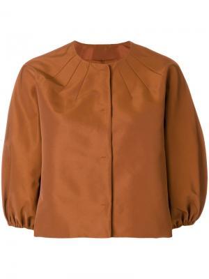 Укороченный пиджак с объемными рукавами Red Valentino. Цвет: жёлтый и оранжевый
