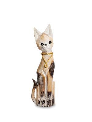 Статуэтка Кошка 40см (албезия, о.Бали) Decor & gift. Цвет: коричневый