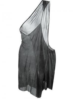 Топ на одно плечо Lost & Found Ria Dunn. Цвет: серый