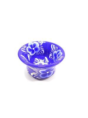 Тарелка синяя Taowa. Цвет: синий