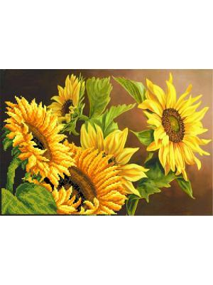 Рисунок на шелке Солнечный цвет Матренин Посад. Цвет: желтый, зеленый, коричневый