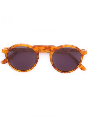 Солнцезащитные очки Letter Smoke X Mirrors. Цвет: жёлтый и оранжевый