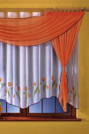Комплект штор кухня WISAN. Цвет: оранжевый