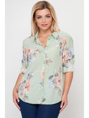 Рубашка Limonti. Цвет: серо-зеленый, голубой, розовый