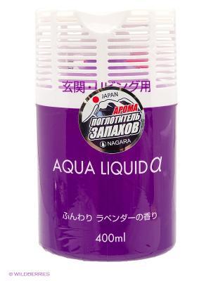 Nagara Aqua liquid Арома-поглотитель запахов для коридоров и жилых помещений Лаванда 400 мл. Цвет: фиолетовый