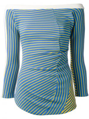 Блузка с открытыми плечами Twist Richard Malone. Цвет: синий