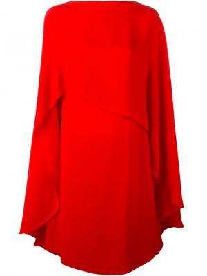 Платье-пончо Sybilla. Цвет: красный