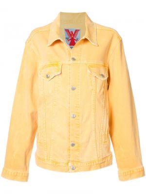 Джинсовая куртка Adaptation. Цвет: жёлтый и оранжевый