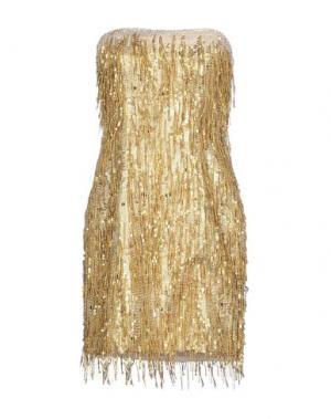 Короткое платье JENNY PACKHAM. Цвет: золотистый