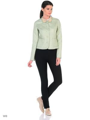 Куртка Lanicka. Цвет: светло-зеленый, бежевый