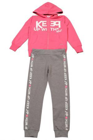 Трикотажный комплект Dodipetto. Цвет: розовый, серый
