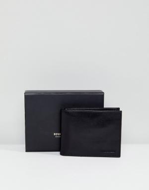Royal RepubliQ Кожаный бумажник Alliance. Цвет: черный