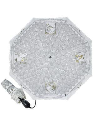 Зонт складной Greece White Emme. Цвет: темно-серый, белый, золотистый