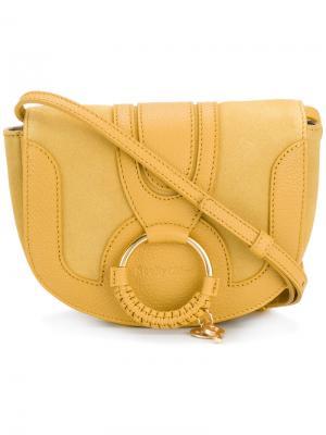 Декориорванная сумка на плечо See By Chloé. Цвет: жёлтый и оранжевый
