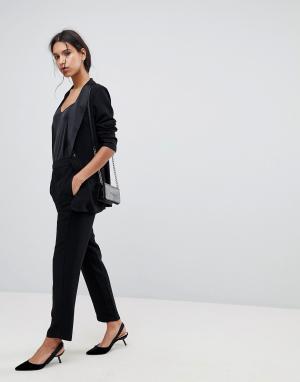 Selected Строгие прямые брюки Femme. Цвет: черный