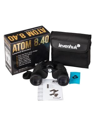 Бинокль Atom 8x40 Levenhuk. Цвет: черный