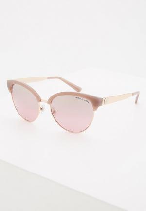 Очки солнцезащитные Michael Kors. Цвет: розовый