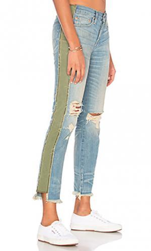 Прямые мешковатые джинсы maggie NSF. Цвет: none