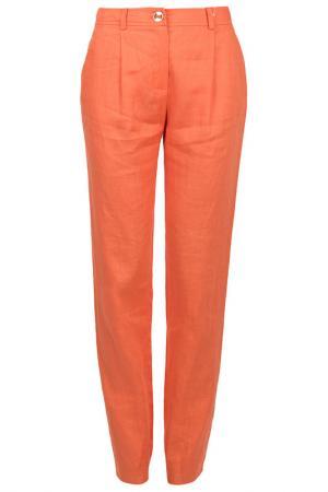 Зауженные брюки с застежкой Luisa Spagnoli. Цвет: оранжевый