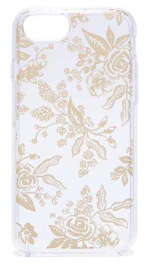 Чехол для iPhone 6 / 6s 7 с металлизированным цветочным рисунком Rifle Paper Co