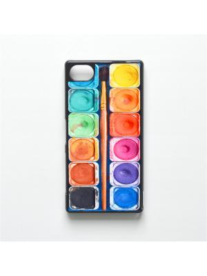 Чехол для Sony Xperia Z5 Compact Акварель с кисточкой Boom Case. Цвет: антрацитовый