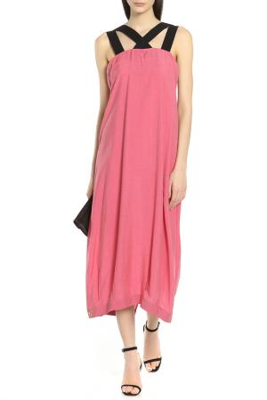 Платье Oblique. Цвет: малиновый